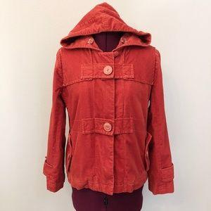 "Anthro/Elevenses | ""Coy"" Hooded Corduroy Jacket"
